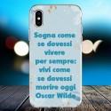 Cover personalizzata con frasi Oscar Wilde frase 1