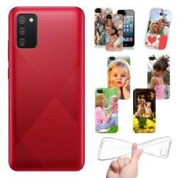 Cover personalizzate per Samsung Galaxy A02s A025 personalizzabile con foto e testo