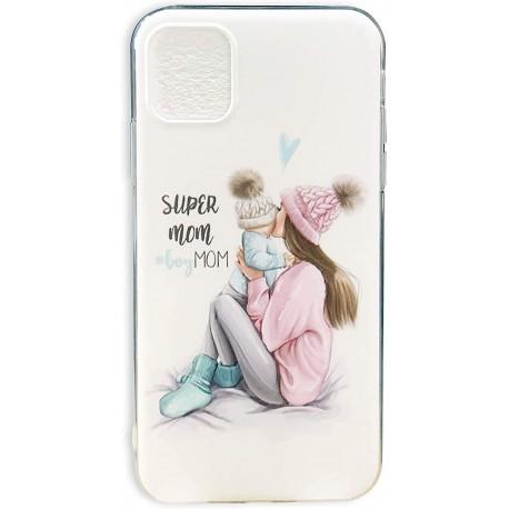 Cover per cellullare personalizzata festa della mamma Super Mom 2