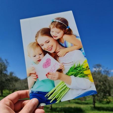 Foto quadro in plexiglass stampa fotografica personalizzata targa vetro acrilico 25cm x 16cm verticale -