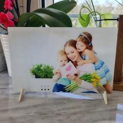 Foto quadro su plexiglass stampa fotografica personalizzata targa vetro acrilico 16cm x 25cm orizzontale -