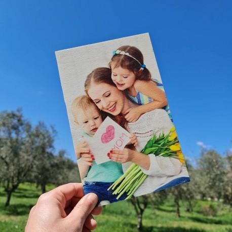 Foto su legno quadro stampa fotografica personalizzata 25cm x 16cm verticale -