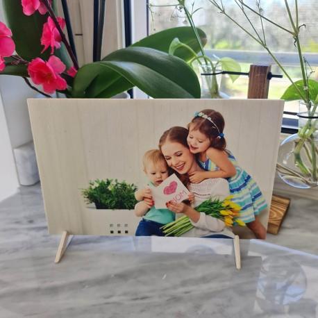 Foto su legno quadro stampa fotografica personalizzata 16cm x 25cm orizzontale -