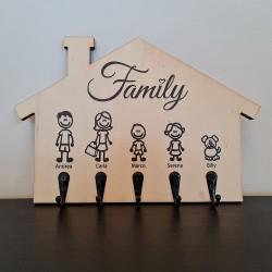 Appendichiavi da muro personalizzato portachiavi da parete in legno porta chiavi porta ingresso Family -