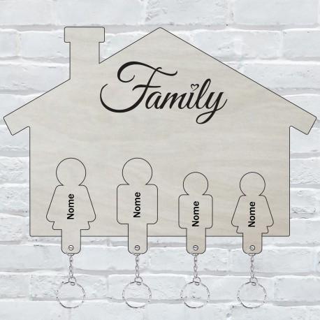 Appendichiavi da muro personalizzato con portachiavi ad incastro da parete in legno porta chiavi  -