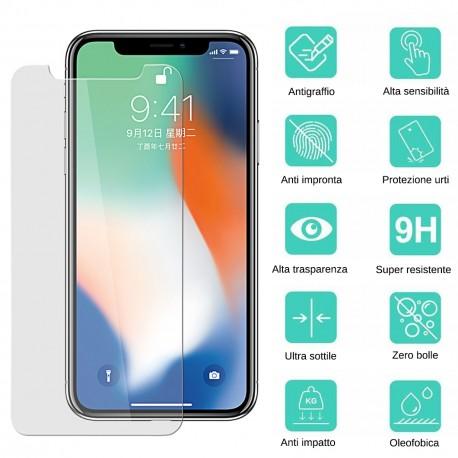 Pellicola schermo per iPhone 12 Pro Max Vetro Temperato 6,7 pollici Proteggi Display  -
