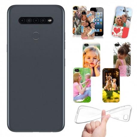 Cover personalizzate per LG K41s personalizzabile con foto e testo