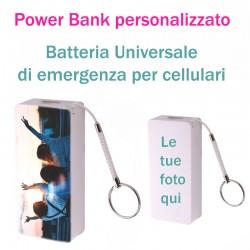 PowerBank Universale PERSONALIZZATO 2600 mah  Caricabatterie esterno emergenza